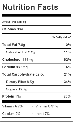 Nutritional Information for Banana Whipped Eggy Oatmeal