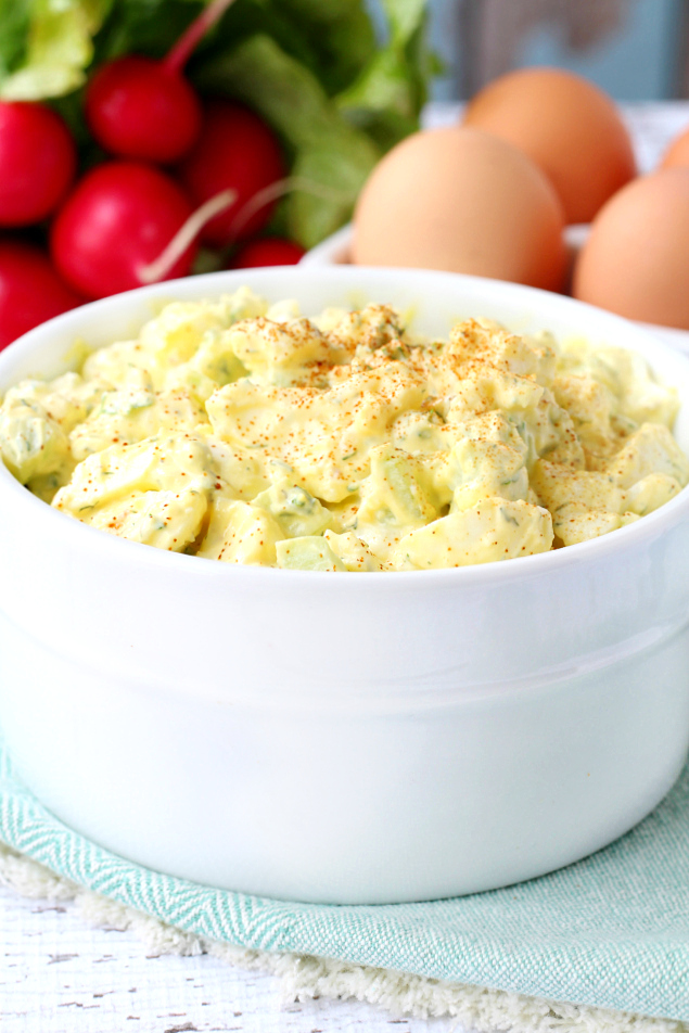 Skinny Egg Salad- the comfort food of sandwiches and my version is made healthier by using Greek yogurt and it turned out so creamy dreamy delicious!