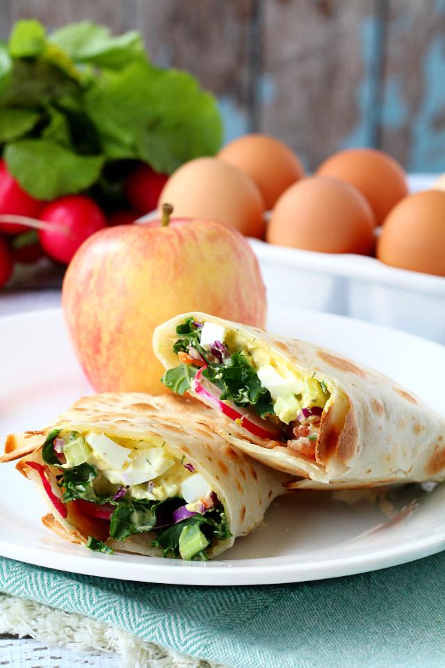 Skinny Egg Salad Wrap