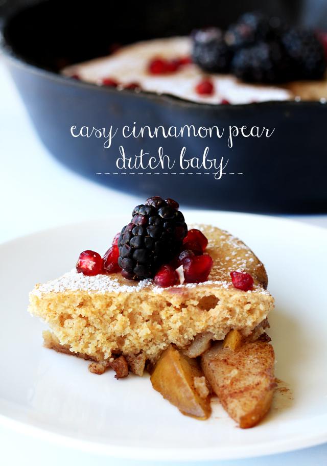Easy Cinnamon Pear Dutch Baby - Kim's Cravings