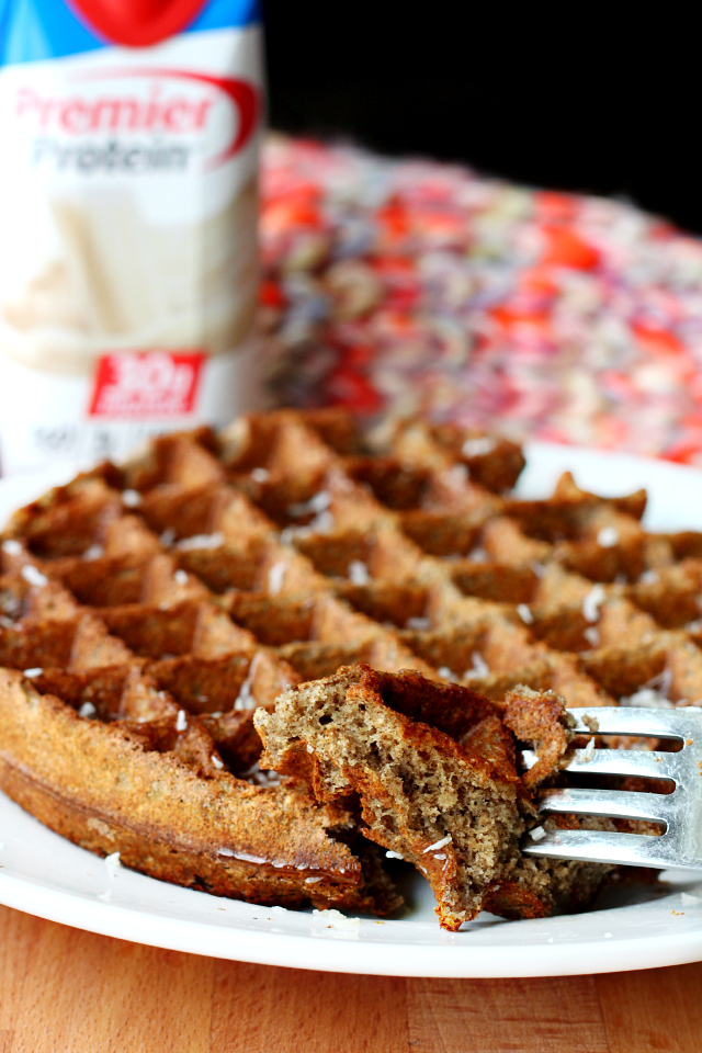 Buckwheat Protein Waffles- so easy, with the perfect texture- crispy on the outside and fluffy on the inside, and they pack a major protein punch!