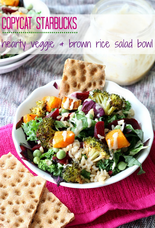 This Copycat Starbucks Hearty Veggie and Brown Rice Salad Bowl is a great, tasty choice for those of you that are conscious about eating only the freshest and most nutritious foods.