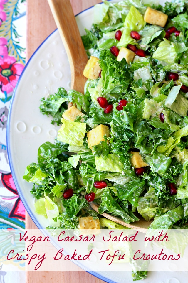 This vegan Caesar salad is incredible and seriously way better than the typical Caesar salad!