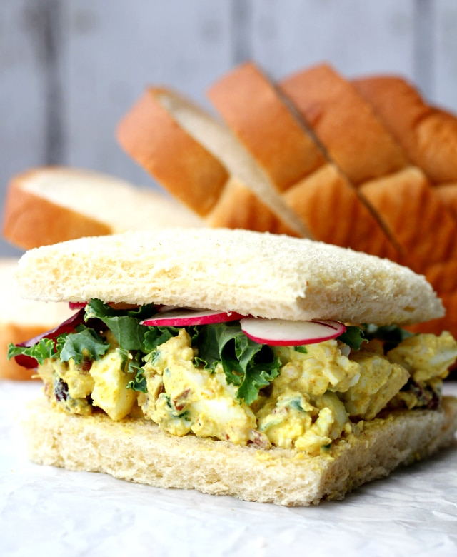 Curried Egg Salad- the traditional egg salad gets a kick of flavor from one of my favorite antioxidant-rich seasonings.