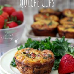 These mini spinach prosciutto quiche cups are perfect for your next brunch and are even great served alongside a salad for a light lunch.