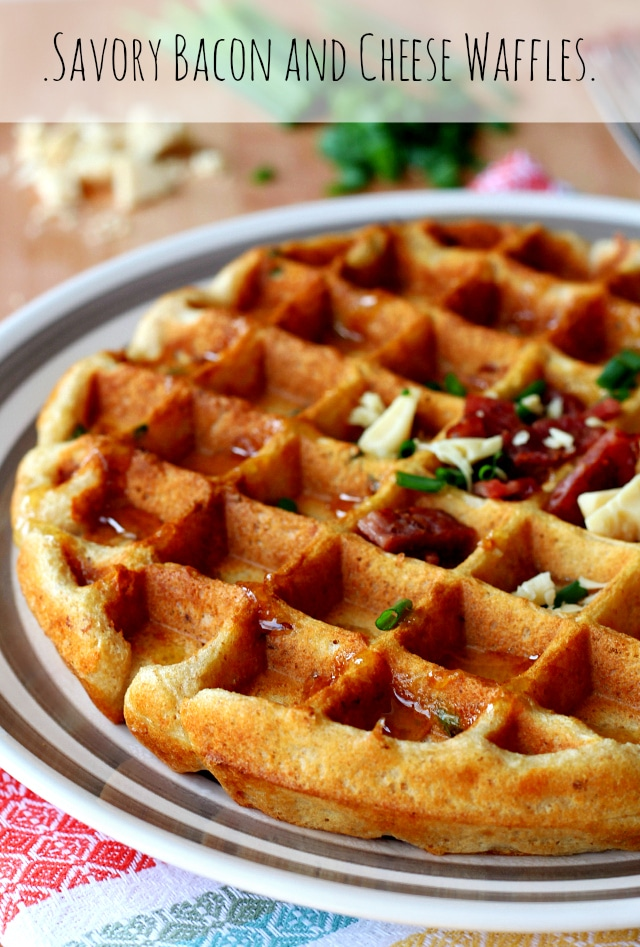 Savory Bacon and Cheese Waffles