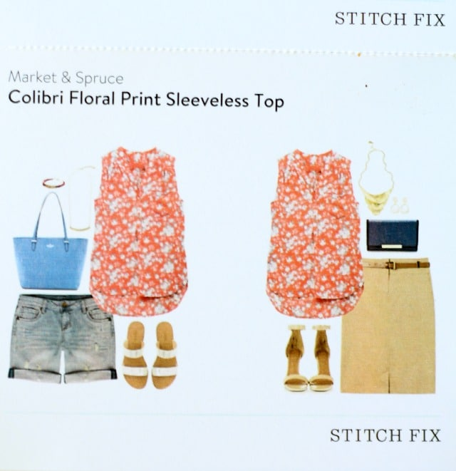 Market and Spruce Colibri Floral Sleeveless Top