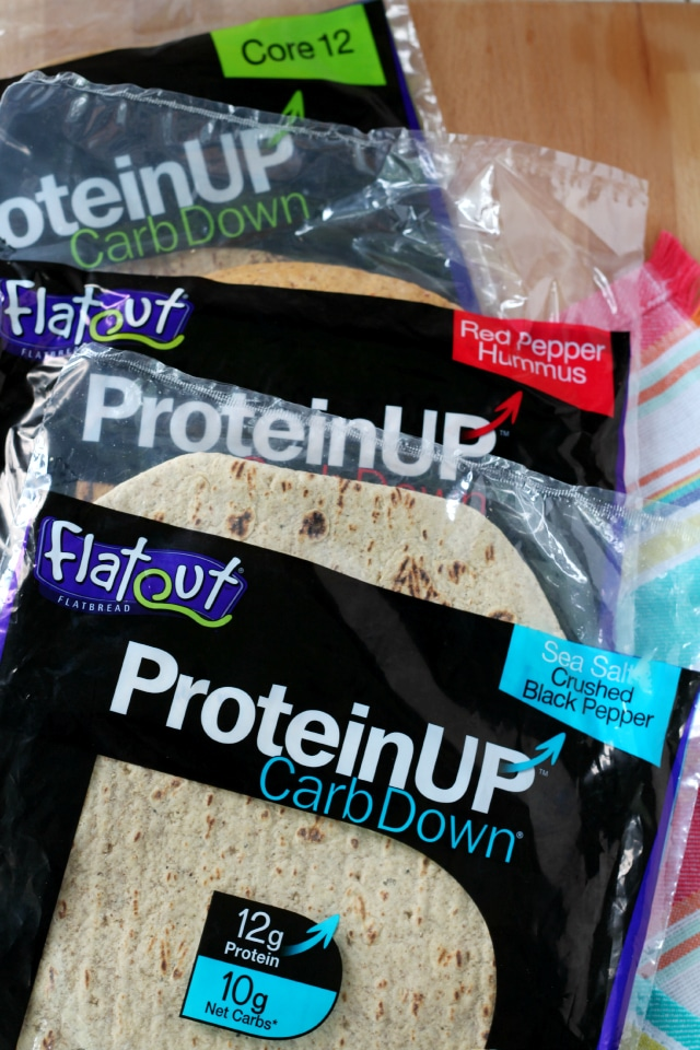 Flatout's new ProteinUP, CarbDown Flatbread Wraps