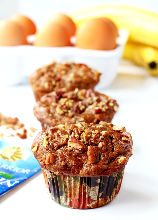 Banana Nut Protein Muffins