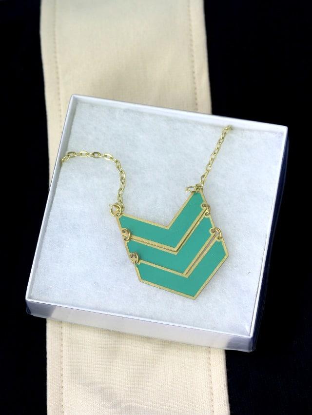Brisa Chevron Pendant Necklace