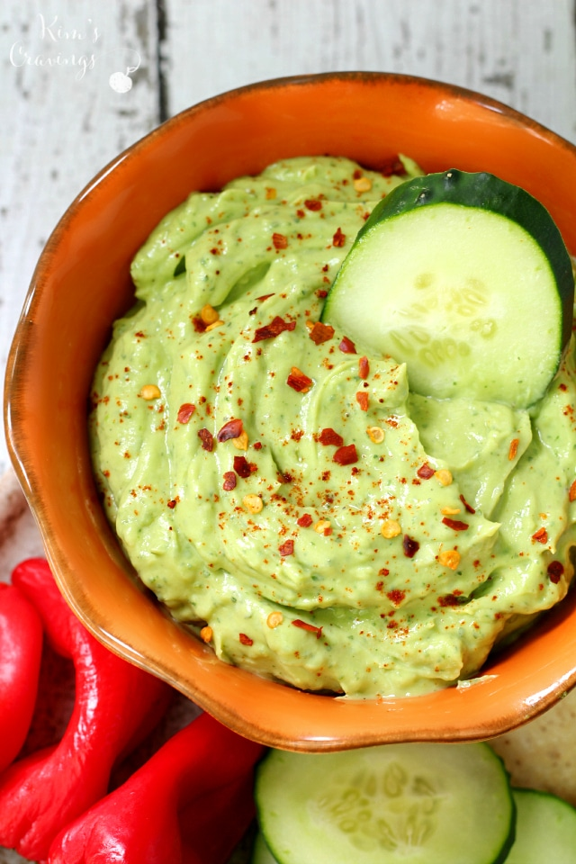 The flavor of this cool creamy avocado ranch dip is truly off the charts. It's definitely my new go-to when it comes to appetizers!