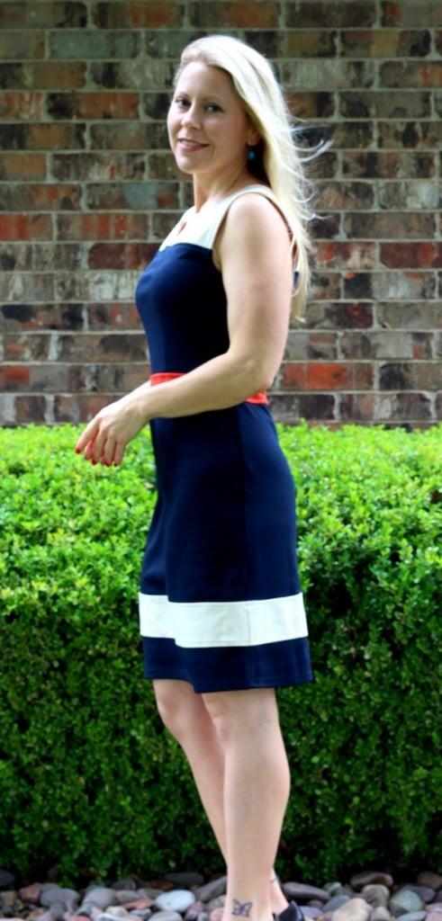 Sloane Colorblock A-Line Pointe Shift Dress
