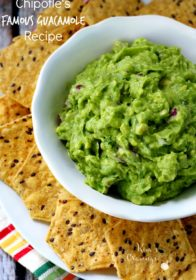 Chipotle's Famous Guacamole Recipe- The secret's out and there's no extra charge!
