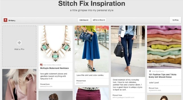 stitch fix pinterest board