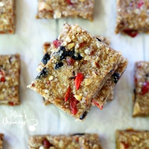 Honey Almond Oat Snack Bars