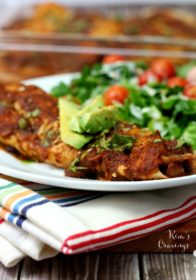 Gluten-free, dairy-free chicken black bean enchiladas are super simple to throw together and cook up quickly. Add the homemade enchilada sauce for even more delicious flavor.