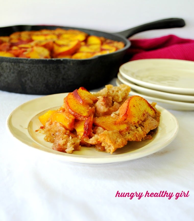 Savor sweet, juicy peaches with this healthier peach skillet cake that tastes like summer.