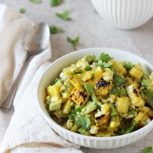Grilled corn pineapple salsa