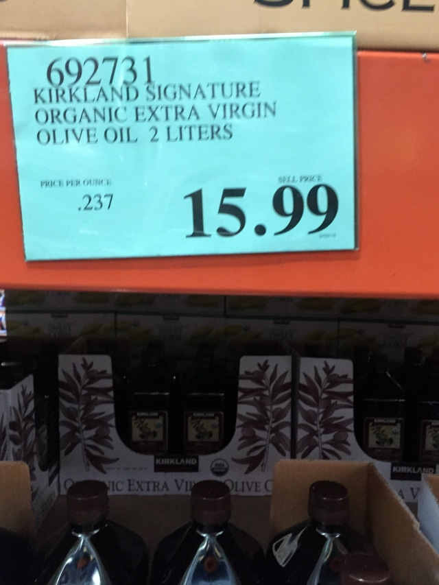 extra virgin olive oil from Costco