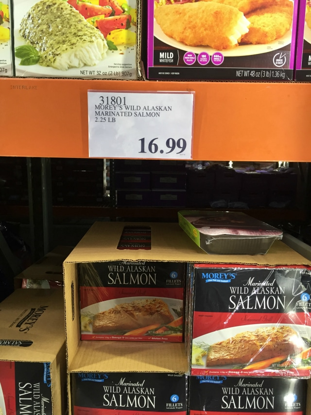 marinated salmon from Costco