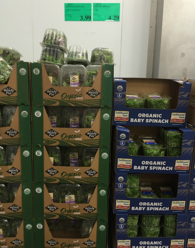 Greens from Costco