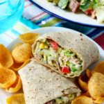 tuna salad wrap served with chips