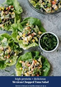 tuna salad in lettuce cups