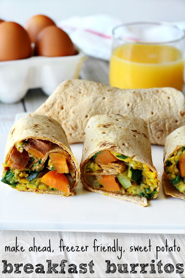 Sweet Potato Breakfast Burritos-There's nothing like waking up, getting ready for the day and grabbing a nutritious, delicious breakfast that's ready when you are!