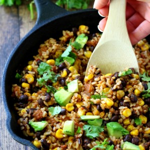 This 5 Ingredient Mexican Brown Rice might just be the simplest most flavorful rice dish you'll ever cook.