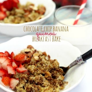 Chocolate Chip Banana Quinoa Breakfast Bake