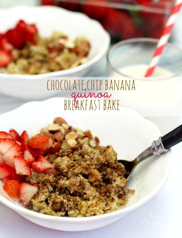 If you're looking to change up your morning meal, this Chocolate Chip Banana Quinoa Breakfast Bake is for you. Gluten-free, super satisfying and a fabulous way to start the day!