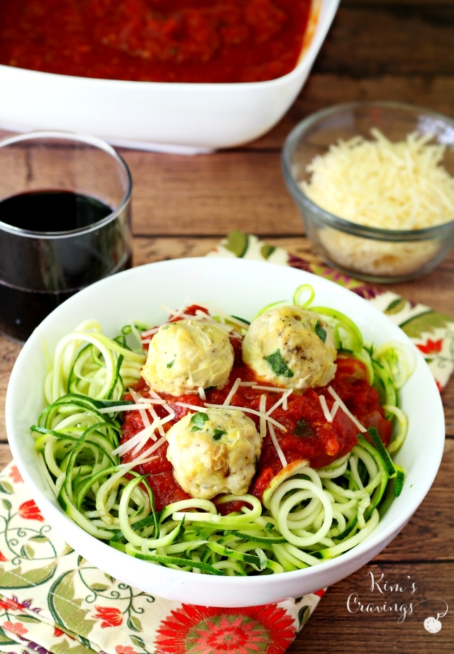 This Skinny Zoodles and Meatball recipe makes for the most fabulous healthy, yet super satisfying meal.