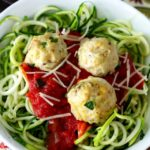Skinny Zoodles and Meatballs