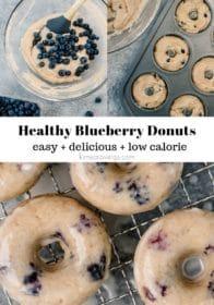 steps for baking homemade blueberry donuts
