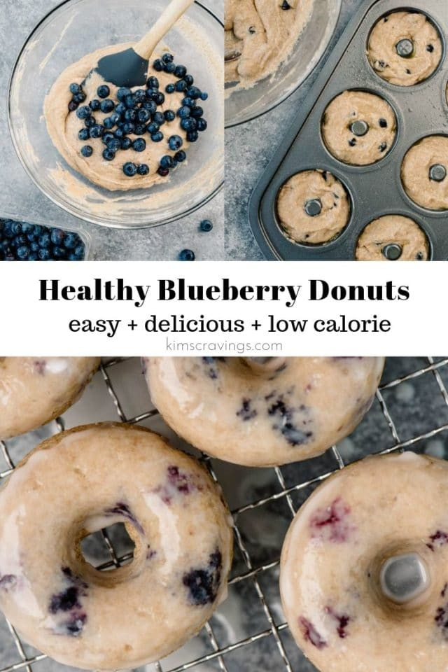 steps for baking homemade blueberry donuts