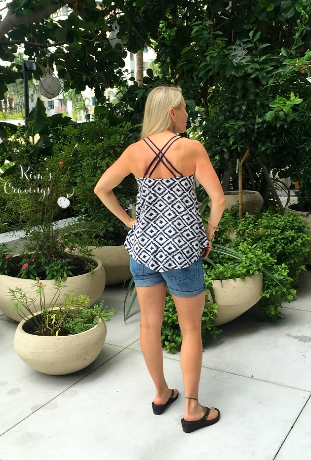 Another favorite top, I received, the Mensier Spaghetti Strap Top ($38).