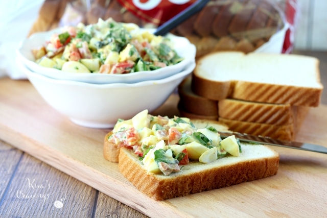 All the flavor of a BLT in a healthy egg salad, perfect for back-to-school... or in my case, back-to-work lunches.