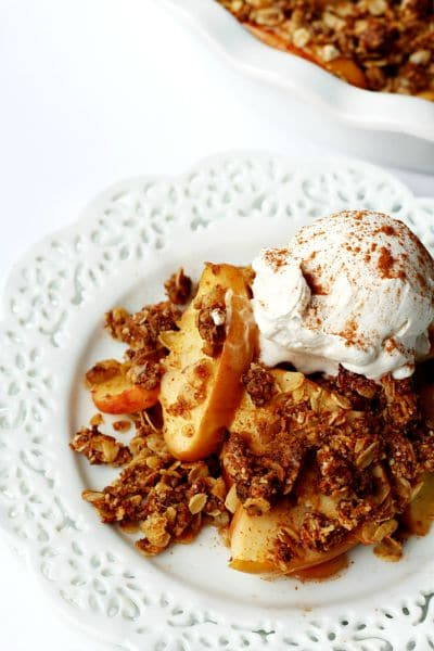 healthier apple crumble