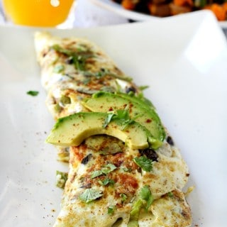 Sweet Potato Black Bean Egg White Omelet