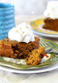 This simple Chocolate Chip Pumpkin Cake is studded with sweet chocolate chips and infused with lovely Fall flavors- a MUST make this season!