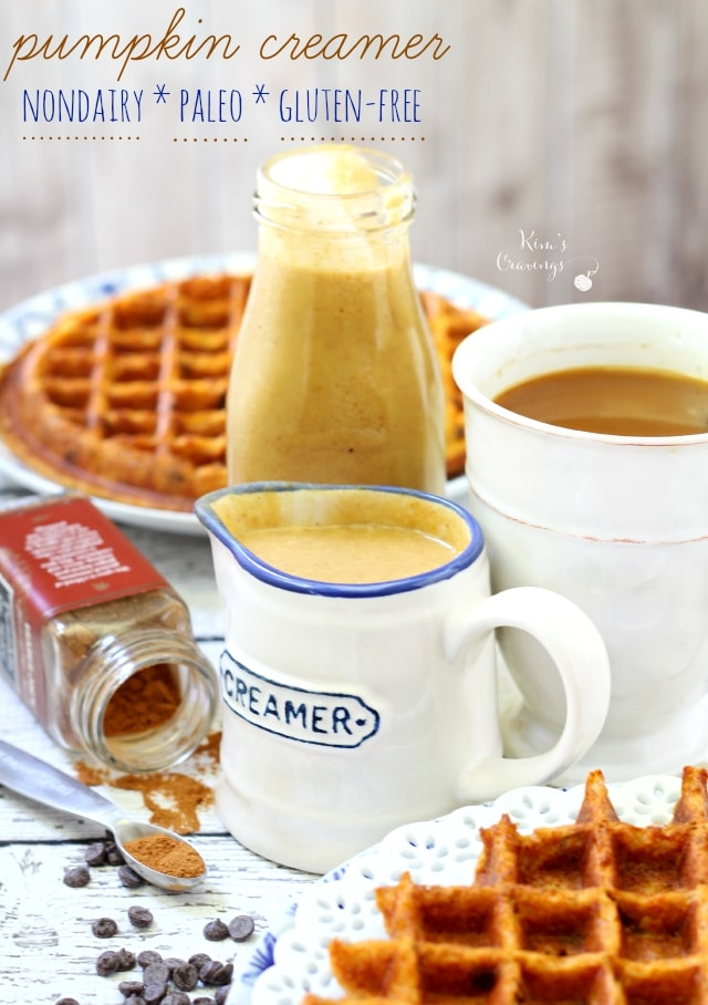 Before you drop a bunch of dough on the Pumpkin Spice Latte at Starbies, give this healthier pumpkin spice creamer a try! The better-for-you, dairy-free, paleo, gluten-free, vegan creamer is full of lovely Fall flavors, without all of that added junk.