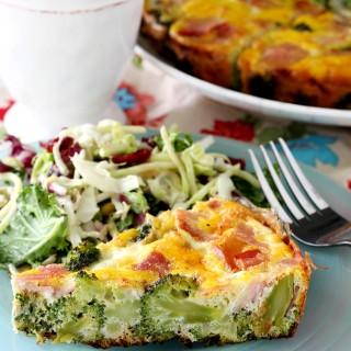 Broccoli and Ham Frittata