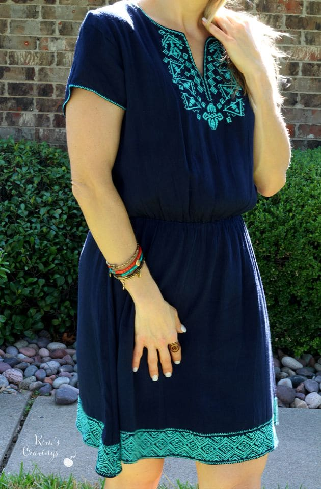 The Tonia Beaded Wrap Bracelet from Zad ($28) was an item I pinned to my style Pinterest board and it went perfectly with the Linda Dress, so how could I not keep it?!?!