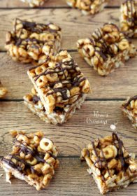 Gluten Free Cheerio Snack Bars are so simple and quick to throw together, with only 3 wholesome ingredients. Even better- there's no baking required. Beware, though, these snack bars are super addicting... betcha can't eat just one!