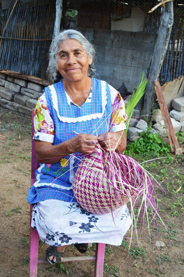 How the Palm Leaf Baskets are created.