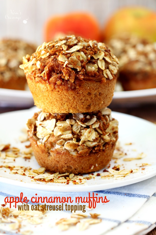 Sweet and crunchy on the tops, moist and bursting with warm fall flavors on the inside these healthier streusel apple muffins are a MUST try!