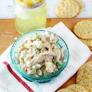 Pineapple Almond Chicken Salad