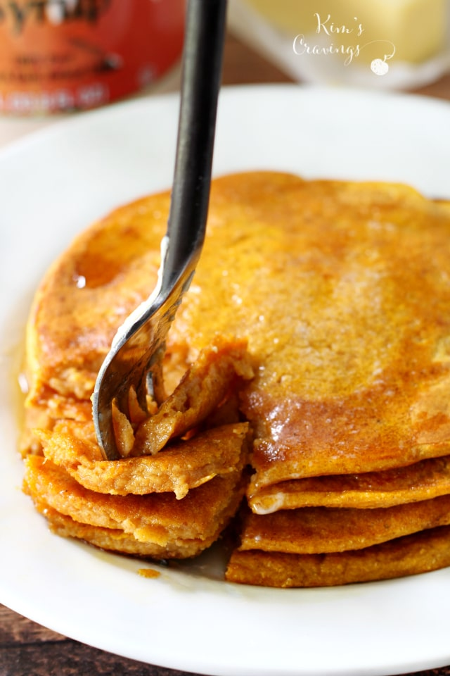 Get festive with breakfast- use your favorite pancake mix for the easiest pumpkin pancakes that can be whipped up in a pinch.