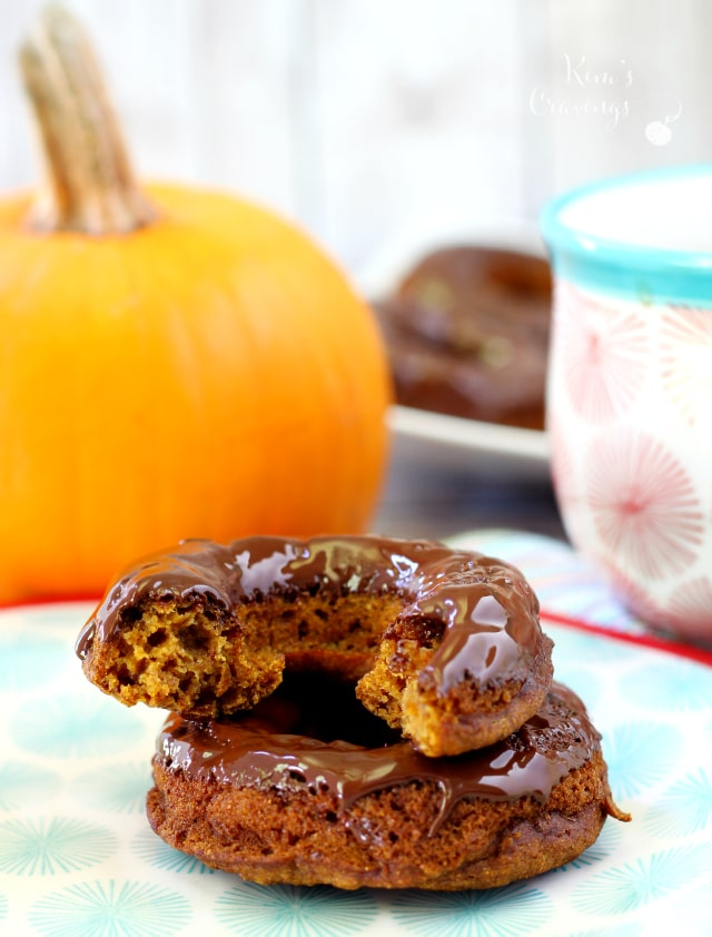 Skinny Pumpkin Spice Donuts proving donuts can be healthy and absolutely delicious! At just over 100 calories each, these baked pumpkin donuts are super simple and come loaded with lovely fall flavors.