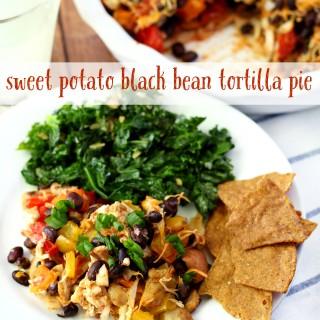 Sweet Potato Black Bean Tortilla Pie